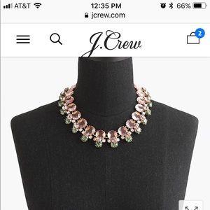 J Crew Swarovski crystal necklace NWT